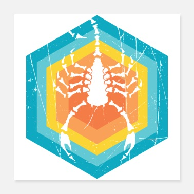 Stinger Scorpio in a beautiful retro design - Poster