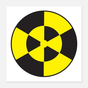 Reactor Round radioactive YELLOW and white circle - Poster