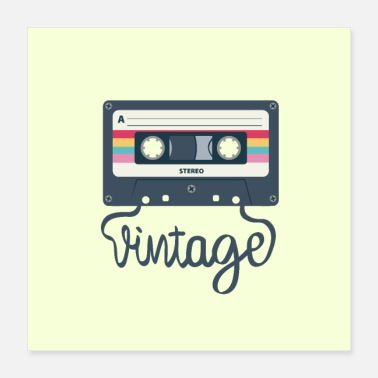 Audio Vintage audio tape - Poster