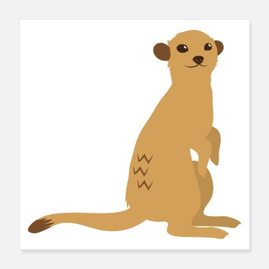 Male brown male meerkat - Poster