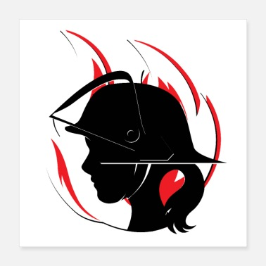 Fire Fighter Fire Department - woman - Poster