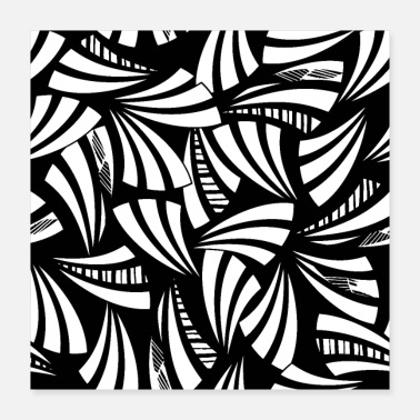 Black And White Abstract pattern black white - Poster