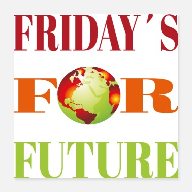 Umwelt Fridays for future - Poster
