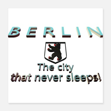 Crest BERLIN The city that never sleeps (Format 1*1) - Poster