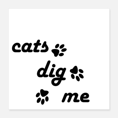 Dig cats - Poster