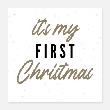 Baby Christmas it's my first christmas - Poster