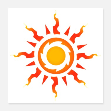 Tribal Tattoo Tribal sun symbol tribal tattoo gift idea - Poster