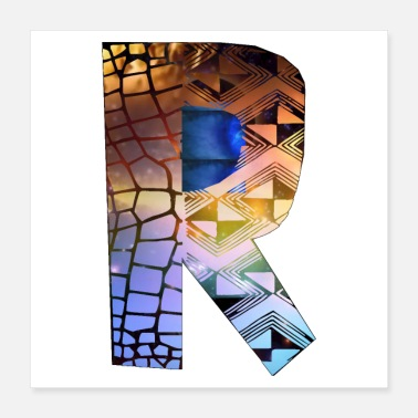 Diversity Letters design colorful R, symbol of diversity - Poster