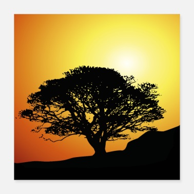 Sunset Sunset sunset tree - Poster