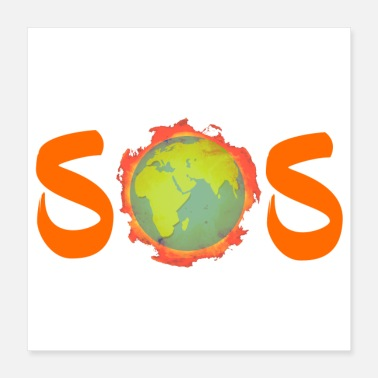 SOS - Save Our Earth - Save Our Souls - Plakat o wymiarach