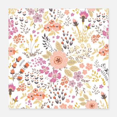 Small Small colorful flowers - Poster