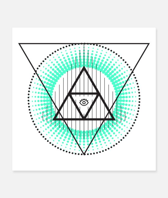 Hipster Posters - Triangle with eys - Posters white