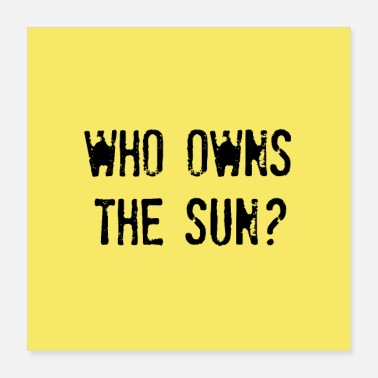 Exploitation WHO OWNS THE SUN | Future questions | poster - Poster