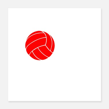 Volley Love volleyball speler cadeau idee - Poster