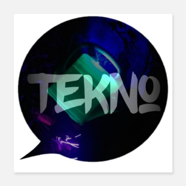 Speech Balloon Tekno speech bubble - Poster