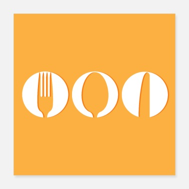 Spoons Spoon, fork and knife poster - Poster