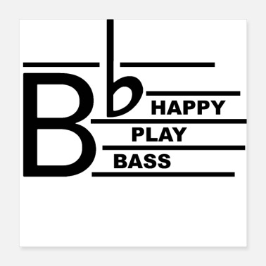 Bass Player Be happy bass - Poster