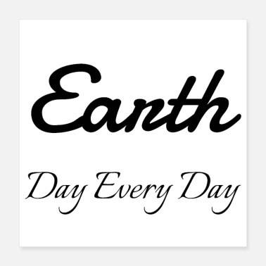 Day vegan - Earth Day Every Day - Poster