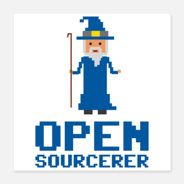 Javascript Developer Open Sourcerer Funny gift idea - Poster