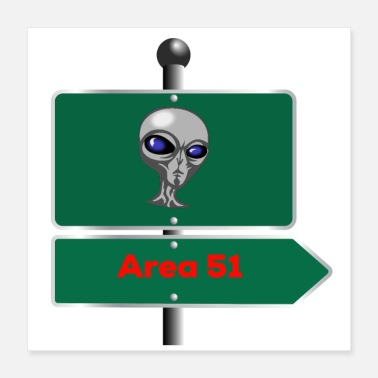 Area area 51 sign - Poster