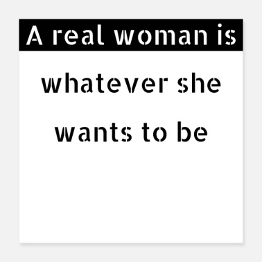 Real feminism - real woman - Poster