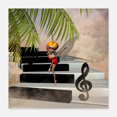 Piano Dancing on a piano - Poster