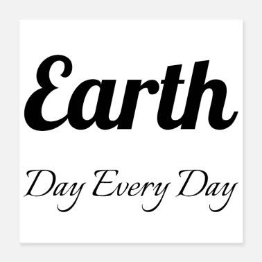 Day veganistisch - Earth Day Every Day - Poster