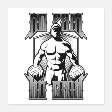 Anabolic Steroids No Pain No Gain  Sport, Fitness, Lifting - Poster