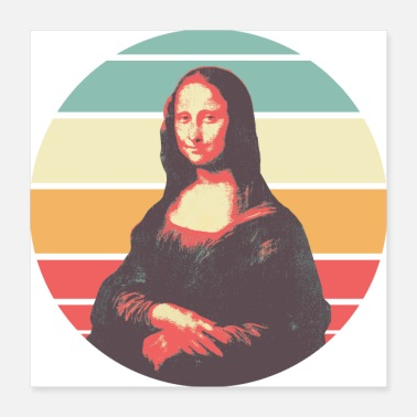 Lisa Retro Mona Lisa - Poster