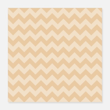 Pattern simple zigzag pattern in skin color - Poster