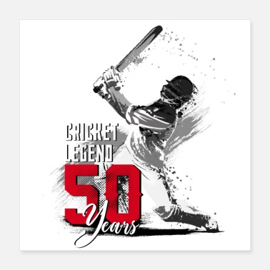 Scorer Cricket player, 50th birthday, the legend - Poster