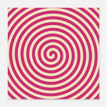 Optical Art - Pink - Spiral - Poster