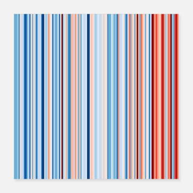 Minnesota Minnesota Global Warming Stripes Climate Strike - Poster