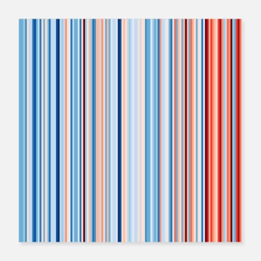 Lehre Minnesota Global Warming Stripes Klimastreik - Poster