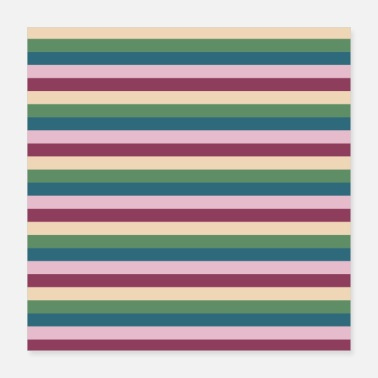 Strip Stripe Pattern Stripe Pattern Stripe Violet Vert - Poster