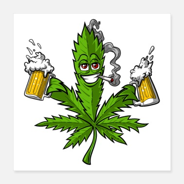 Party Weed Beer Party - Poster