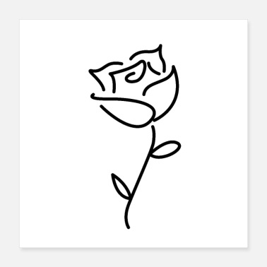 Valentines Day rose - Poster