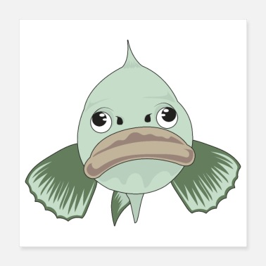 Aquarium Grumpy Fish Emotion Aquarium Grappig cadeau-idee - Poster