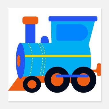 Fer Train, chemin de fer, locomotive - Poster
