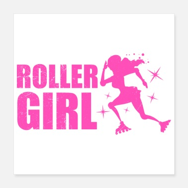 Skater Inline Skating Roller Girl Idea regalo divertente - Poster