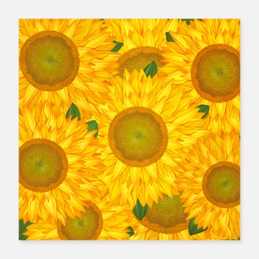 Drawing Sunflowers - Poster