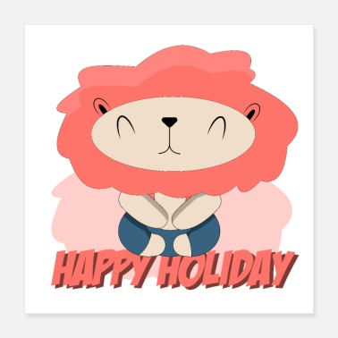 Radiation Leo in meditative yoga wishes you happy holidays - Poster