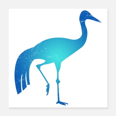 South America Symbol of South Africa's Paradise Crane Tribal Tattoo - Poster