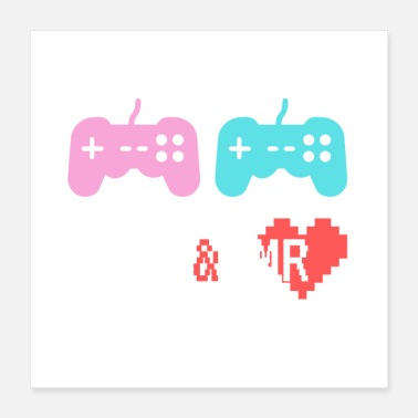 Clan Mrs & Mr Gamer nerdbröllop - Poster