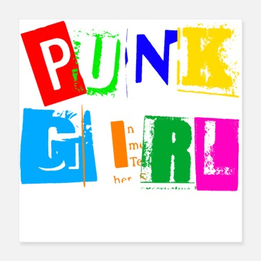 Supermodel Punk Girl - Poster