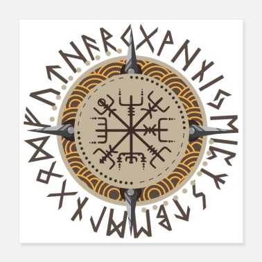 Scandinavia Idea regalo guerriero vichinghi Vegvisir - Poster