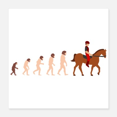 Eventing Evolution horse riding Funny gift idea - Poster