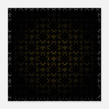 Muster Dark golden Ornament with Border - Poster