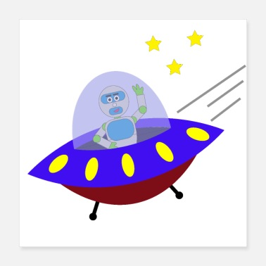 Saucer INICO Goes into Space! - Poster