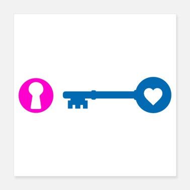 Wife Key and keyhole couples gift idea - Poster